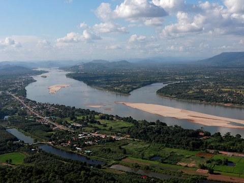 Đoạn sông Mekong trên biên giới giữa Lào và Thái Lan