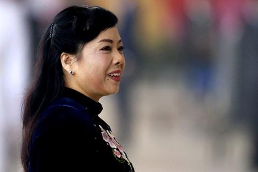Bộ trưởng Bộ Y tế Nguyễn Thị Kim Tiến đến dự lễ khai mạc Đại hội X của Đảng Cộng sản Việt Nam lần thứ 12 tại Hà Nội ngày 21 tháng 1 năm 2017.