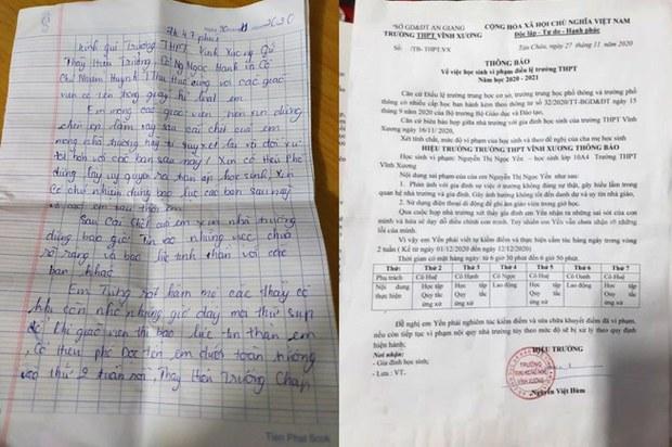 Bộ GD&ĐT: cần xử lý đúng pháp luật vụ nữ sinh lớp 10 ở An Giang tự tử