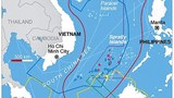 Bản đồ khu vực biển Đông với các phần lãnh hải của các quốc gia đang tranh chấp