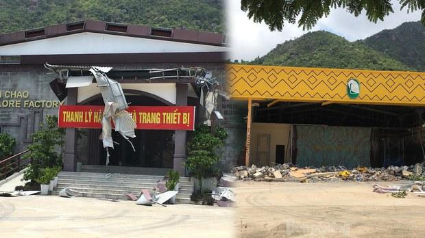 Nha Trang cưỡng chế hàng loạt công trình xây trái phép phục vụ du khách Trung Quốc