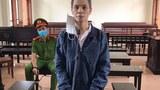 Facebooker Cao Văn Dũng tại phiên toà ở Quảng Ngãi ngày 9/6/2021