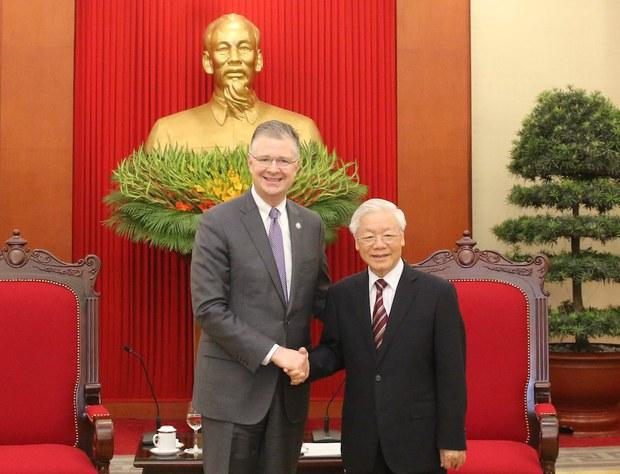 Ông Trọng mời Tổng thống Mỹ Joe Biden sớm thăm Việt Nam