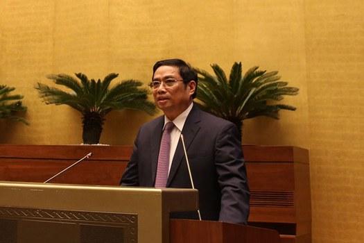 Trưởng ban Tổ chức Trung ương Phạm Minh Chính tại hội nghị ở Hà Nội hôm 23/11/2018