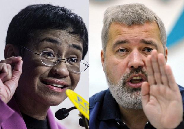 Hai nhà đấu tranh cho quyền tự do ngôn luận là khôi nguyên giải Nobel Hòa Bình 2021