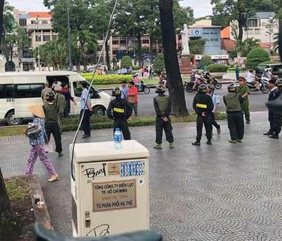 Công an và an ninh trên đường phố Sài Gòn ngày 17/6/2018