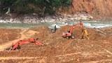 Tái tục tìm kiếm công nhân bị mất tích trong vụ lở đất Thủy điện Rào Trăng 3