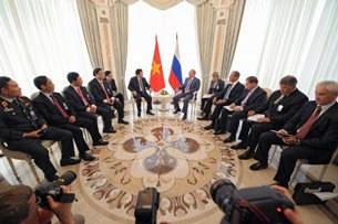 Chủ tịch nước Trương Tấn Sang gặp tổng thống Nga