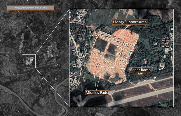 Ảnh vệ tinh cho thấy Trung Quốc lập căn cứ tên lửa đất đối không gần biên giới Việt Nam