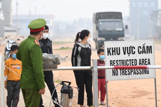 Một trạm kiểm dịch tại xã Sơn Lôi, tỉnh Vĩnh Phúc
