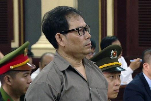 Ông Nguyễn James Han, công dân Mỹ là thành viên của 'Chính phủ quốc gia Việt Nam lâm thời' có trụ sở tại California, bị xét xử trước tòa án tại thành phố Hồ Chí Minh vào ngày 22 tháng 8 năm 2018.