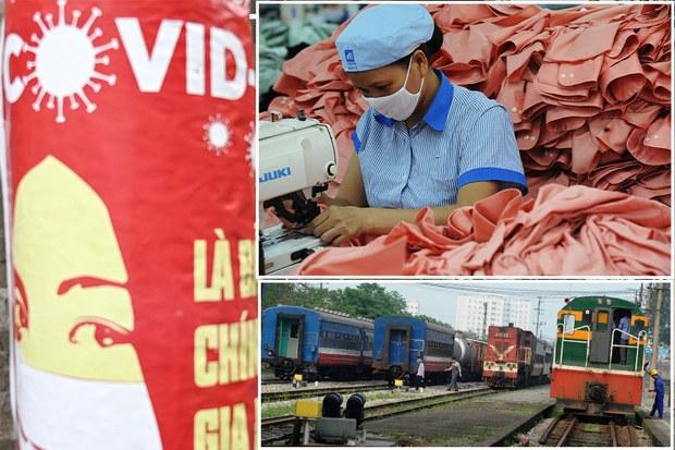 Xuất khẩu dệt may và doanh thu ngành đường sắt đều giảm nặng do dịch COVID-19
