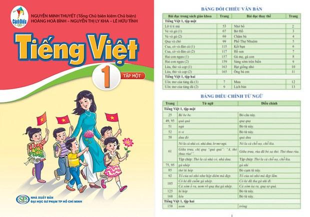Bộ Giáo dục - Đào tạo VN phê duyệt điều chỉnh sách Tiếng Việt 1