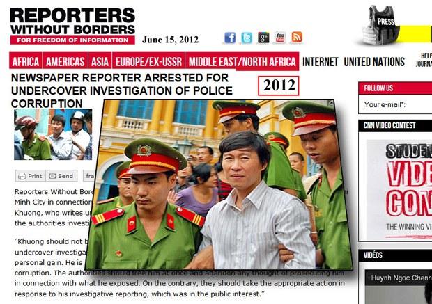 Tổ chức phóng viên Không biên giới lên tiếng gọi bản án dành cho phóng viên Hoàng Khương là bất công