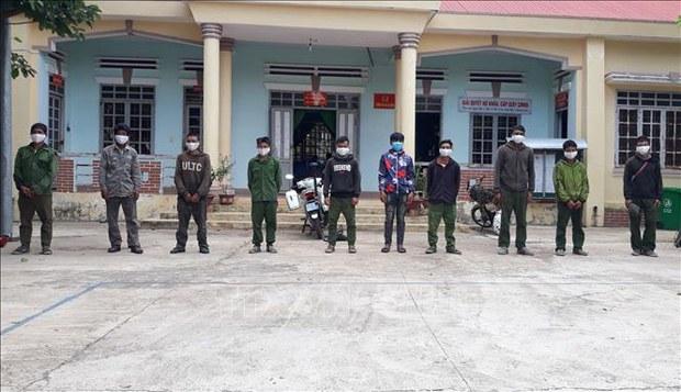 Phát hiện 12 người vận chuyển trái phép lâm sản từ Campuchia về Việt Nam