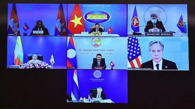 Hội nghị Bộ trưởng Quan hệ Đối tác Mekong – Mỹ (MUSP) lần thứ hai, diễn ra vào ngày 3/8/2021.