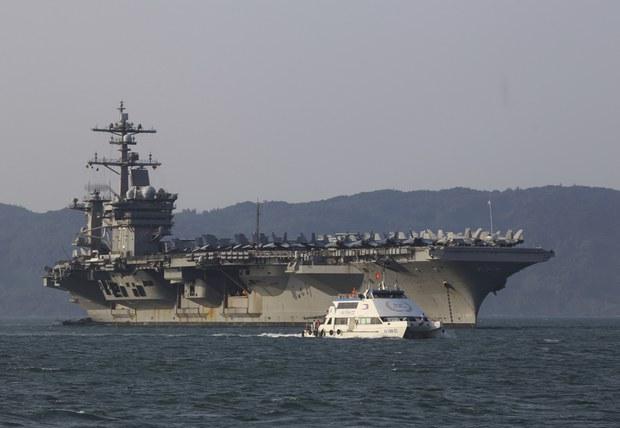 Nhóm tác chiến hàng không mẫu hạm Hoa Kỳ tiến vào Biển Đông