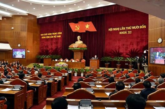 Hội nghị Trung ương 14 Đảng Cộng sản Việt Nam trong ngày làm việc hôm 13/1/2016.