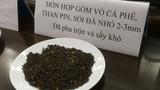 Mẫu tang vật công an thu giữ tại cơ sở sản xuất cà phê trộn pin của bà Nguyễn Thị Thanh Loan