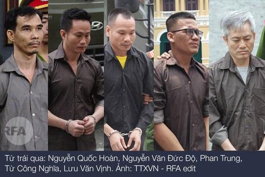 5 nhà hoạt động của Liên minh dân tộc Việt Nam tự quyết