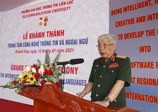 Việt Nam - Ấn Độ khánh thành trung tâm công nghệ thông tin quân đội