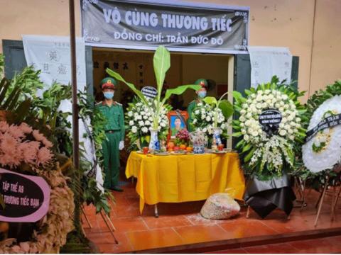 Hình minh hoạ. Đám tang quân nhân Trần Đức Đô ở khu Đa Hội, phường Châu Khê, thị xã Từ Sơn, tỉnh Bắc Ninh hôm 29/6/2021