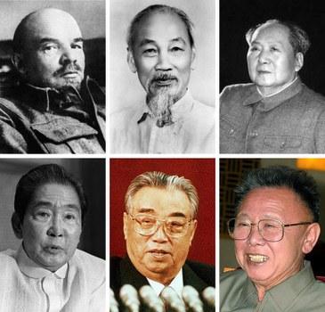 Hình minh họa. Các lãnh tụ cộng sản của Trung Quốc, Việt Nam và Bắc Hàn