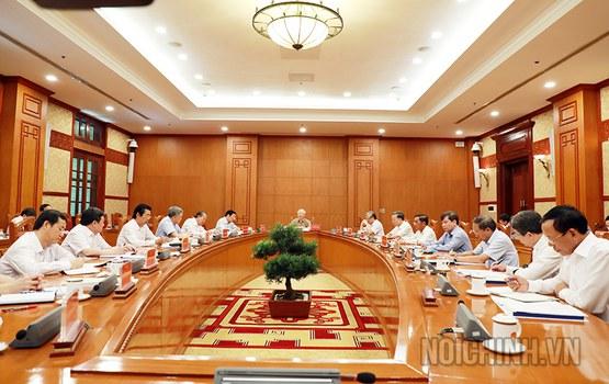 Hình minh hoạ. Cuộc họp của Thường trực Ban Chỉ đạo về phòng, chống tham nhũng ở Hà Nội hôm 26/5/2020