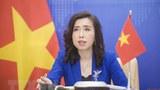 Người Phát ngôn Bộ Ngoại giao Lê Thị Thu Hằng trả lời tại cuộc họp báo thường kỳ của Bộ Ngoại giao.