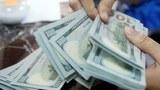 Hình minh hoạ. Nhân viên ngân hàng ở Hà Nội đang đếm đồng đô la Mỹ