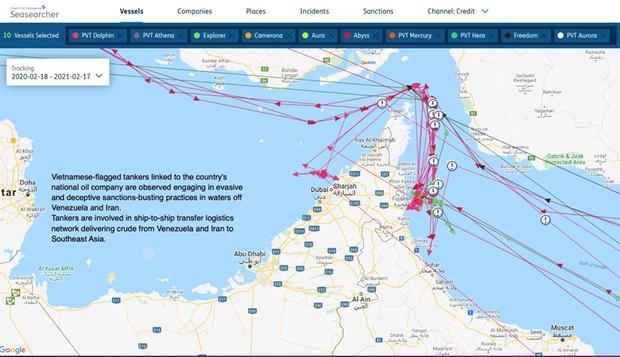 Chủ tàu Việt Nam liên quan đến các giao dịch dầu mỏ của Iran và Venezuela