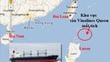 Khu vực ghi nhận tàu Vinalines mất tích.