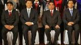 Chủ tịch Trung Quốc Tập Cận Bình (thứ 2 từ trái) và Ủy viên Bộ Chính trị ĐCSVN Lê Hồng Anh (thứ hai từ phải) tại Hà Nội hôm 22/12/2011