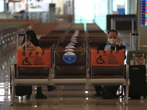 Ảnh minh họa. Sân bay Nội Bài, Hà Nội hôm 12/2/2020. Dịch COVID-19 mới bùng phát ở Việt Nam đã làm chậm lại việc kinh doanh và du lịch trong dịp Tết Nguyên đán.