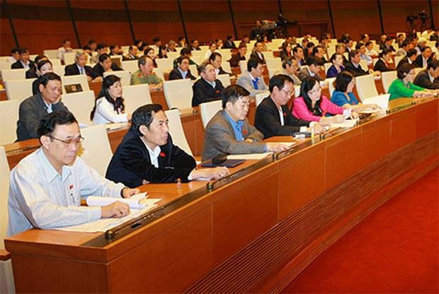 Các đại biểu trong phiên họp quốc hội