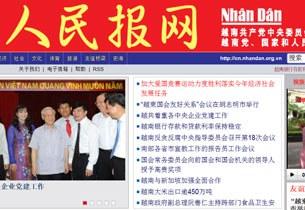 Báo Nhân Dân điện tử ấn bản tiếng Trung Quốc