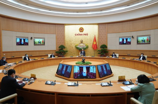 Quang cảnh phiên họp Chính phủ thường kỳ tháng 3/2020, diễn ra hôm 31/3/2020.
