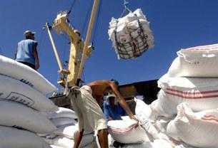 Gạo xuất khẩu được chuyển lên tàu