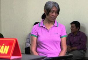 Bị cáo Amodia Teresita Palacio tại phiên tòa sáng 30-10