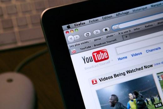 Ứng dụng YouTube trên điện thoại di động.