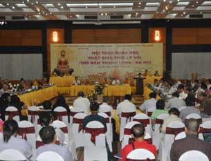Toàn cảnh Hội thảo khoa học Phật giáo thời các vua nhà Lý diễn ra tại khu du lịch Thiên Đường, Bảo Sơn tại Hà Nội, hôm 29/07/2010.