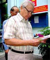Sau khi nghỉ hưu, Ông Võ Văn Kiêt về sống cùng gia đình ở Sài Gòn cho đến ngày qua đời. RFA file photo