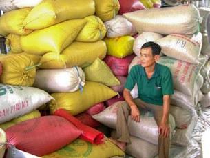Gạo thành phẩm của nông dân ĐBSCL.