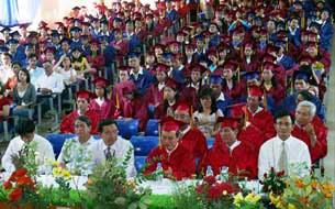 Sinh viên và các đại biểu tham dự Lễ tốt nghiệp ở trường Đại học Tôn Đức Thắng. (ảnh minh họa)