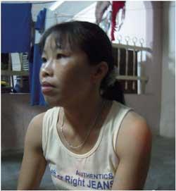 Chị Nguyễn Thị Chanh, một lao động Việt Nam tại Malaysia, ảnh chụp ngày 7 tháng 4 năm 2010 tại Melacca, Malaysia. Photo Tường An/RFA.