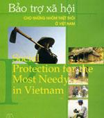 Bìa sách 'Bảo trợ xã hội cho những nhóm thiệt thòi ở Việt Nam' của Nhà xuất bản Thế Giới.