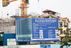 Một công trình xây dựng ở Hà Nội, ảnh chụp năm 2012. RFA photo.